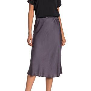 YF&B Felicity sage green satin midi skirt - NWT
